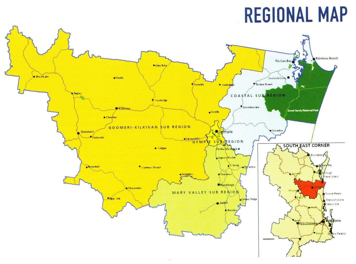 Gympie Regional Map