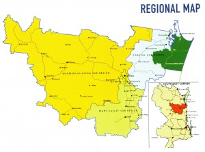 Gympie Region map